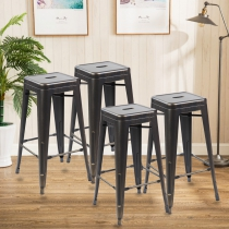Modern Metal Dining Chairs 4pc (3001-30-AGB)