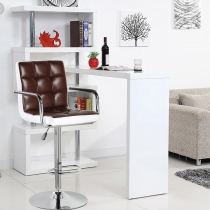 Modern Square Shape Swivel chair (5012F-BRWH)