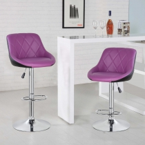 Bello Height Adjustable Swivel Bar Stool(5015-PPBK)