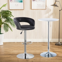 Bello Height Adjustable Swivel Bar Stool(5025-BK)