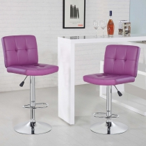 Square Bar Stool with Chrome Footrest (5069-PR)