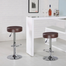 Round Bar Stool with Chrome Footrest (5079-BR)