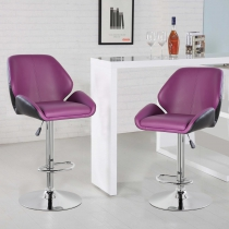 Height Adjustable Bar Stool (5088-PPBK)