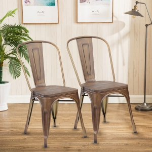 Metal And Wood Bar Stools 4pc(3004PB-AC)