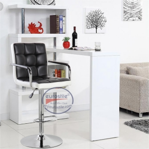 Modern Square Shape Swivel chair (5012F-BKWH)