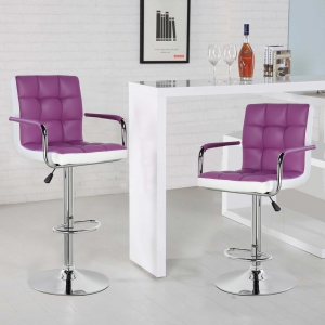 Modern Square Shape Swivel chair (5012F-PPWH)