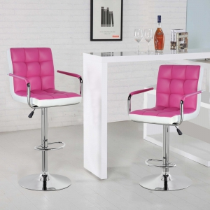 Modern Square Shape Swivel chair (5012F-PRWH)