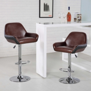 Faux Leather Modern Counter Stools (5080-BR)