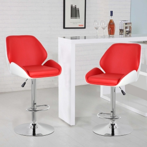 Height Adjustable Bar Stool (5088-RDWH)