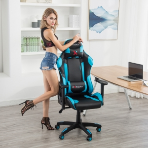 High Back Recliner Office Gaming Chair (7218-BL)