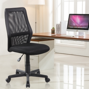 Adjustable Lumbar Support Office Chair (8009-BK)