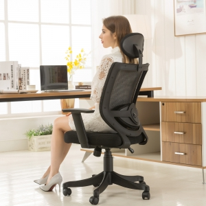 Breathable Mesh Swivel Chair  (8032-BK)