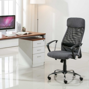 High Back Lumbar Support Swivel Chair (8045-GR)