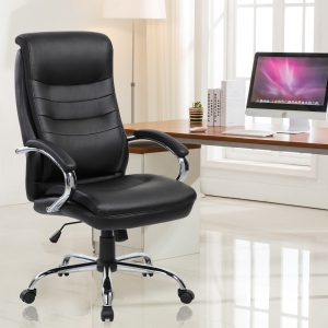 PU Padded High Back Executive Chair (9131-BK)