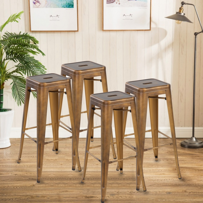 Modern Metal Dining Chairs 4pc (3001-30-AC)