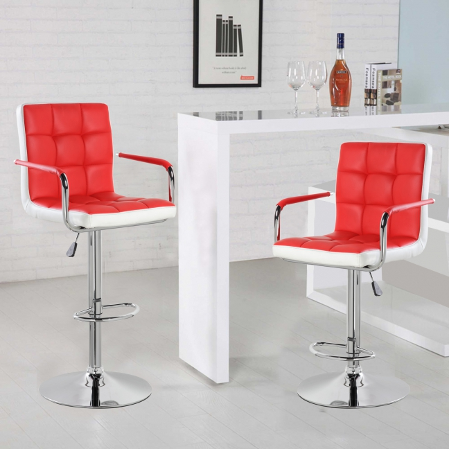 Modern Square Shape Swivel chair (5012F-RDWH)