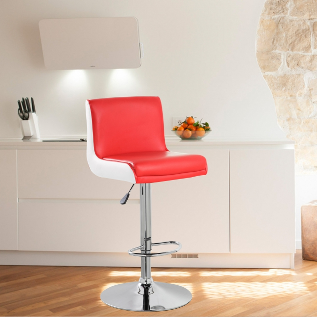United Chair Height Adjustable Bar Stool (UOC-5070-RDWH)