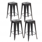 Modern Metal Dining Chairs 4pc (3001-30-ABB)