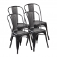 High Back Metal Dining Chair 2pc/4pc (3004-MB)