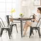 High Back Metal Dining Chair 2pc/4pc (3004-MS)