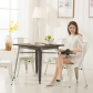 High Back Metal Dining Chair 2pc/4pc(3004-MW)