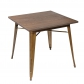 Wood Metal Top Dining Table (3066-MS)