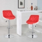 Bello Height Adjustable Swivel Bar Stool(5015-RDWH)