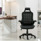 Mesh Back Office Chair PU Seat (8116-BK)